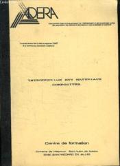 Introduction Aux Materiaux Composites. Centre De Formation. - Couverture - Format classique