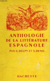 Anthologie De La Litterature Espagnole - Couverture - Format classique