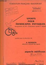 Sports Pour Handicapes Physiques - Programme Du B.E D'Educateur Sportif 1er Degre - Couverture - Format classique