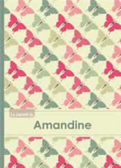 Le Carnet D'Amandine - Lignes, 96p, A5 - Papillons Vintage - Couverture - Format classique