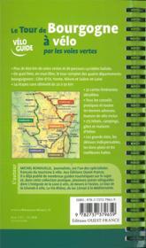 Le tour de Bourgogne à vélo par les voies vertes - 4ème de couverture - Format classique