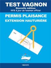 Test Vagnon ; permis plaisance extension hauturière (édition 2021) - Couverture - Format classique