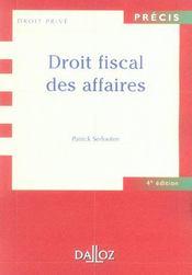 Droit fiscal des affaires - Intérieur - Format classique