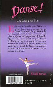 Danse T.7 ; Une Rose Pour Mo - 4ème de couverture - Format classique