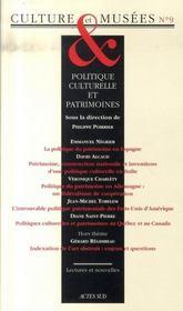Politique culturelle et patrimoines - Intérieur - Format classique