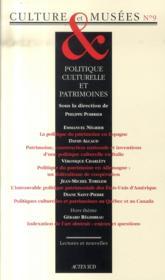 Politique culturelle et patrimoines - Couverture - Format classique