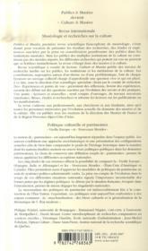 Politique culturelle et patrimoines - 4ème de couverture - Format classique