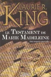 Le testament de marie-madeleine - une enquete mortelle - Intérieur - Format classique