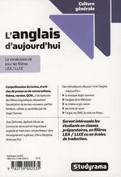 L'Anglais D'Aujourd'Hui - 4ème de couverture - Format classique