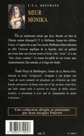 Soeur Monika - 4ème de couverture - Format classique
