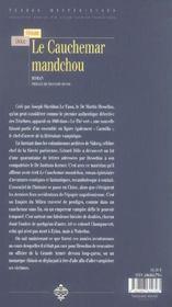 Cauchemar mandchou (le) - 4ème de couverture - Format classique
