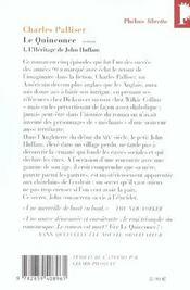 Le quinconce t.1 ; l'héritage de John Huffman - 4ème de couverture - Format classique