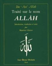 Traité sur le nom allah - Couverture - Format classique