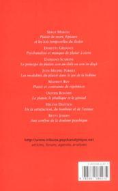 Tribune Psychanalytique T.4 - 4ème de couverture - Format classique