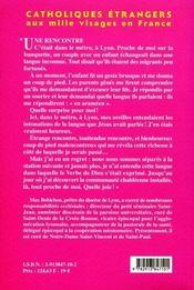 Catholiques etrangers aux mille visages en france, petit lexique - 4ème de couverture - Format classique