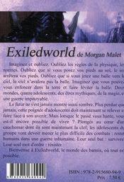 Exileworld t.2 ; le monde perdu - 4ème de couverture - Format classique