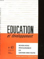 Education Et Developpement N°63 - Couverture - Format classique