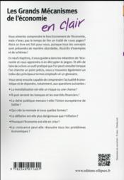 Les grands mecanismes de l economie en clair - 2e edition - 4ème de couverture - Format classique