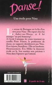 Danse ! T.10 ; une étoile pour Nina - 4ème de couverture - Format classique