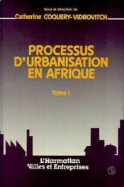 Processus d'urbanisation en Afrique - Couverture - Format classique