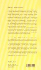 Le Roman Arabe : 1834-2004 - 4ème de couverture - Format classique