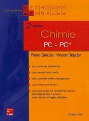 Chimie ; PC-PC ; 2e année - Intérieur - Format classique