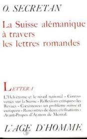 Suisse Alemanique Lettres Romandes - Couverture - Format classique
