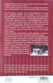Affaire ranucci ; autopsie d'une imposture - 4ème de couverture - Format classique