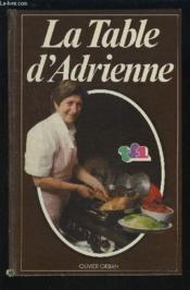 La Table D'Adrienne - Couverture - Format classique