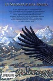 Le seigneur des Andes - 4ème de couverture - Format classique