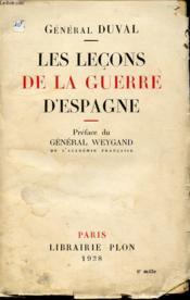 Les Lecons De La Guerre D Espagne - Couverture - Format classique