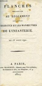 PLANCHES RELATIVES AU REGLEMENT CONCERNANT L'EXERCICE ET LES MANOEUVRES DE L'INFANTERIE, DU 1er AOUT 1791 - Couverture - Format classique