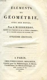 Elements De Geometrie, Avec Des Notes - Couverture - Format classique
