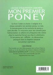 Mon Premier Poney - 4ème de couverture - Format classique