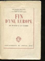 Défense de la Paix. Fin d'une Europe. De Munich à la guerre. - Couverture - Format classique