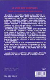 Le livre des merveilles (3e partie) - 4ème de couverture - Format classique