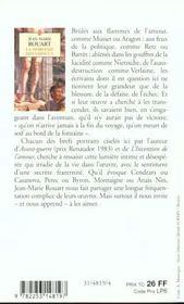 La Noblesse Des Vaincus - 4ème de couverture - Format classique