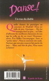 Danse, tome 11 : Un trac du diable - 4ème de couverture - Format classique