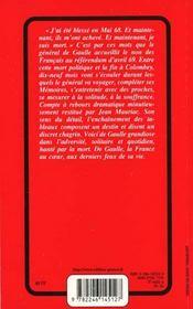 Mort du général de Gaulle - 4ème de couverture - Format classique