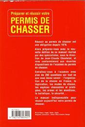 Permis De Chasser ; Edition 2002 - 4ème de couverture - Format classique