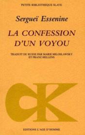 La Confession D'Un Voyou ; Pougatcheff - Couverture - Format classique