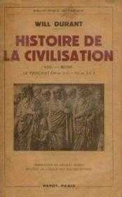 Histoire de la civilisation VIII -Rome -le principat (30av. J. C. -192 ap. J. C. ) - Couverture - Format classique