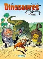 Les dinosaures en BD t.1 - Couverture - Format classique