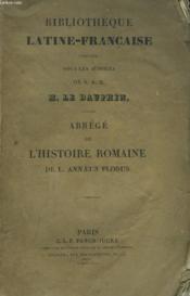 Abrege De L'Histoire Romaine De L. Annaeus Florus. - Couverture - Format classique