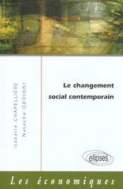 Le Changement Social Contemporain - Intérieur - Format classique