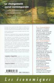 Le Changement Social Contemporain - 4ème de couverture - Format classique