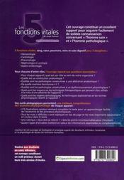 Les 5 fonctions vitales du corps humain - 4ème de couverture - Format classique