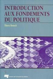 Introduction Aux Fondements Du Politique - Couverture - Format classique