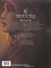 Pandora box t.4 ; la luxure - 4ème de couverture - Format classique
