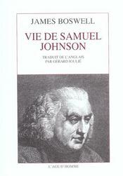 Vie de Samuel Johnson - Intérieur - Format classique